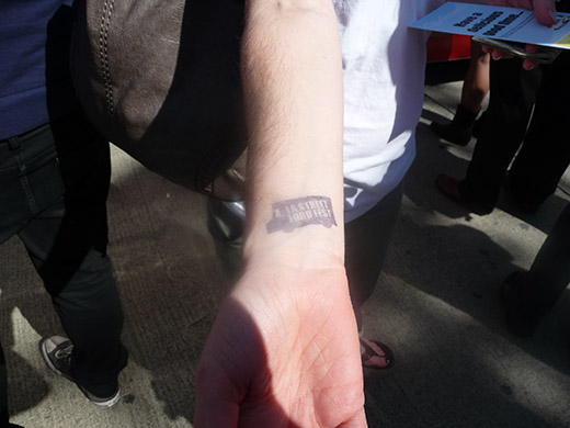 Hand stamp at LA Street Food Fest