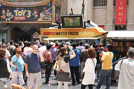 ESPN Match Truck Crowd