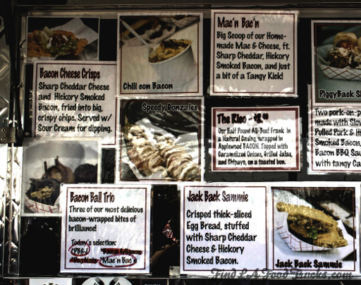 Bacon Mania LA Food Truck Menu