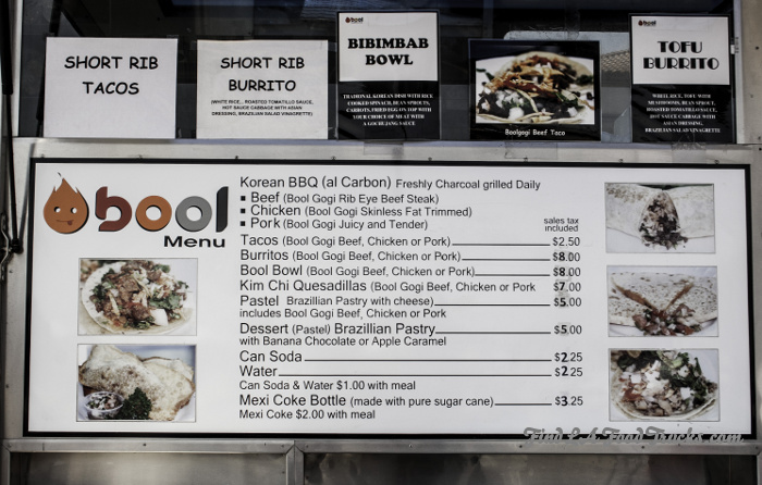 Bool Bbq Food Truck Menu