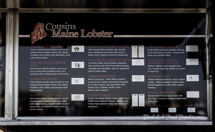 Cousins Maine Lobster LA Food Truck | Find LA Food Trucks