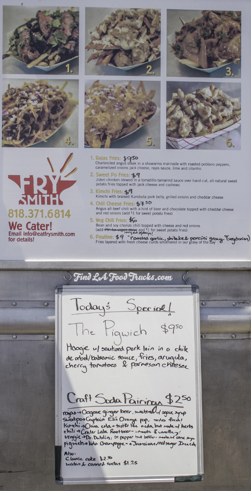 Frysmith LA Food Truck Menu
