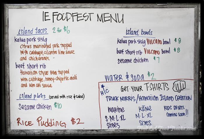 Truck Norris LA Food Truck Menu