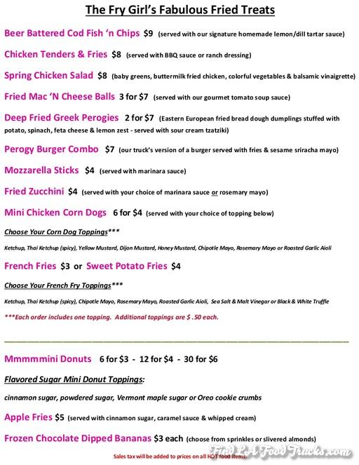 Fry Girl Inc Food Truck Menu Actual Updated June 6 2013_s
